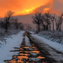 sunset-on-melting-snow